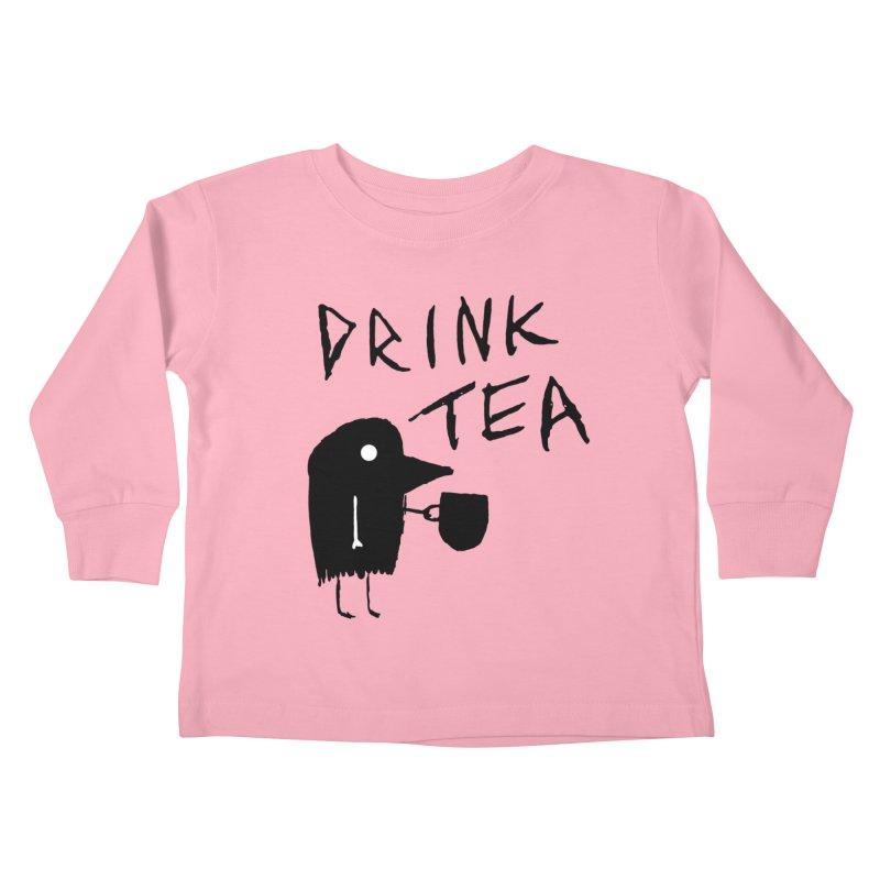 Drink Tea Kids Toddler Longsleeve T-Shirt by The Little Fears