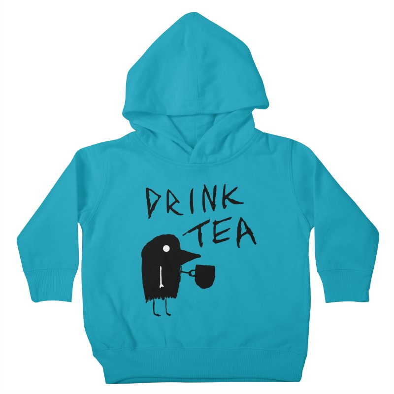 Drink Tea Kids Toddler Pullover Hoody by The Little Fears