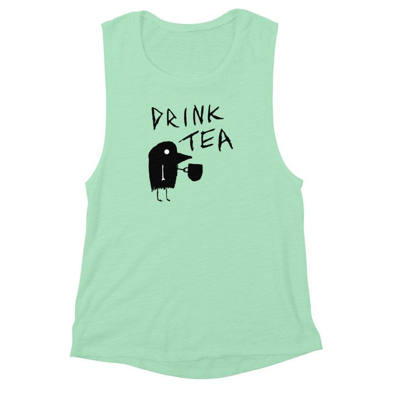Drink Tea Women's Muscle Tank by The Little Fears