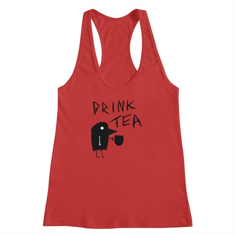Drink Tea Women's Racerback Tank by The Little Fears