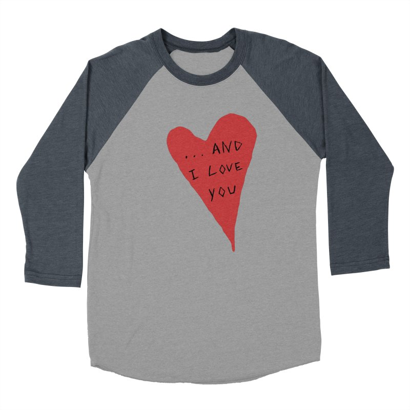 Lucy's Heart - And I Love You Men's Baseball Triblend Longsleeve T-Shirt by The Little Fears