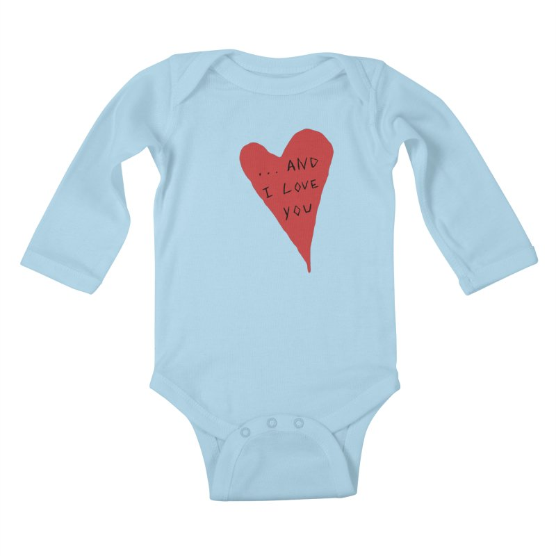 Lucy's Heart - And I Love You Kids Baby Longsleeve Bodysuit by The Little Fears