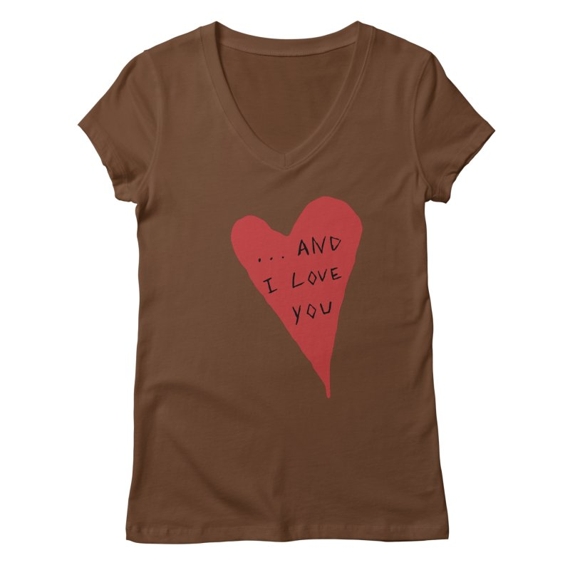 Lucy's Heart - And I Love You Women's Regular V-Neck by The Little Fears
