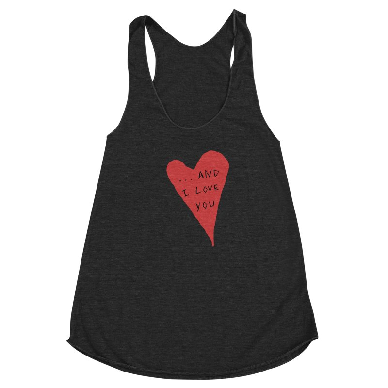 Lucy's Heart - And I Love You Women's Racerback Triblend Tank by The Little Fears