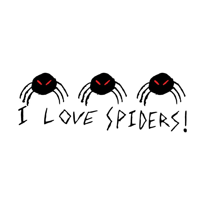 I love spiders! Men's T-Shirt by The Little Fears