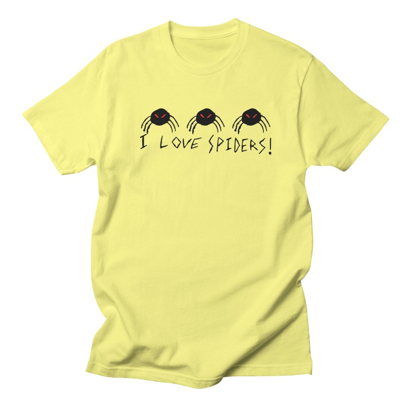 I love spiders! Men's Regular T-Shirt by The Little Fears
