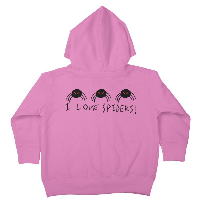 I love spiders! Kids Toddler Zip-Up Hoody by The Little Fears