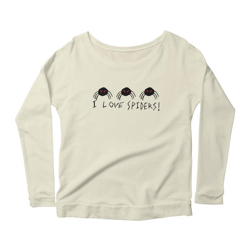 I love spiders! Women's Scoop Neck Longsleeve T-Shirt by The Little Fears