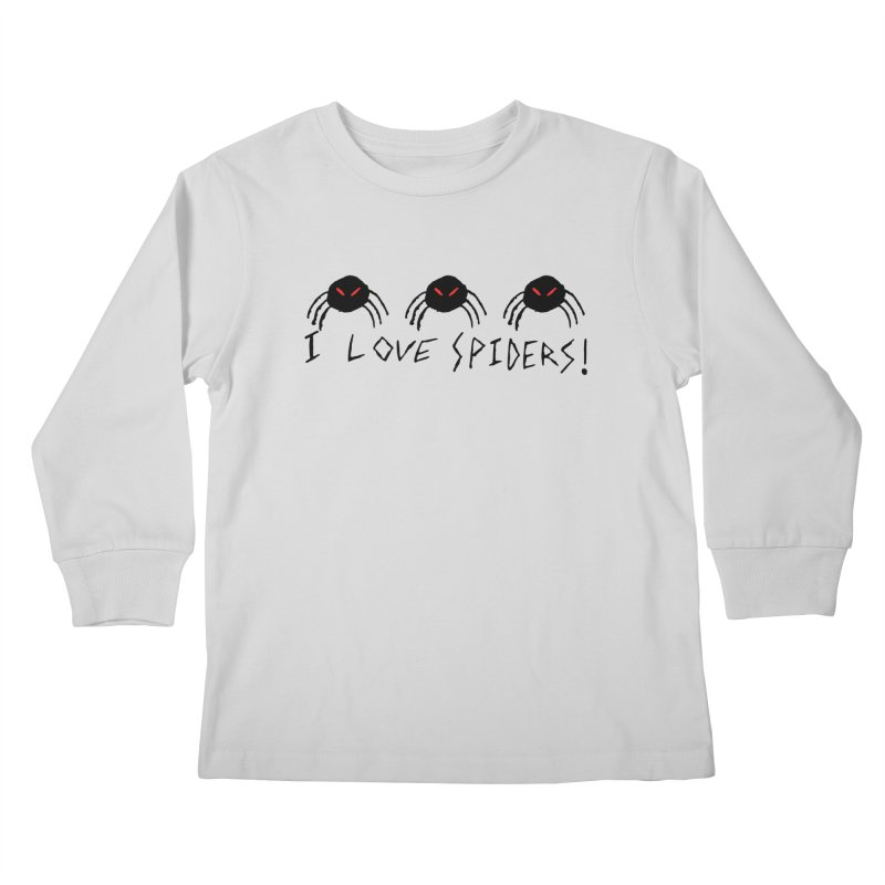 I love spiders! Kids Longsleeve T-Shirt by The Little Fears