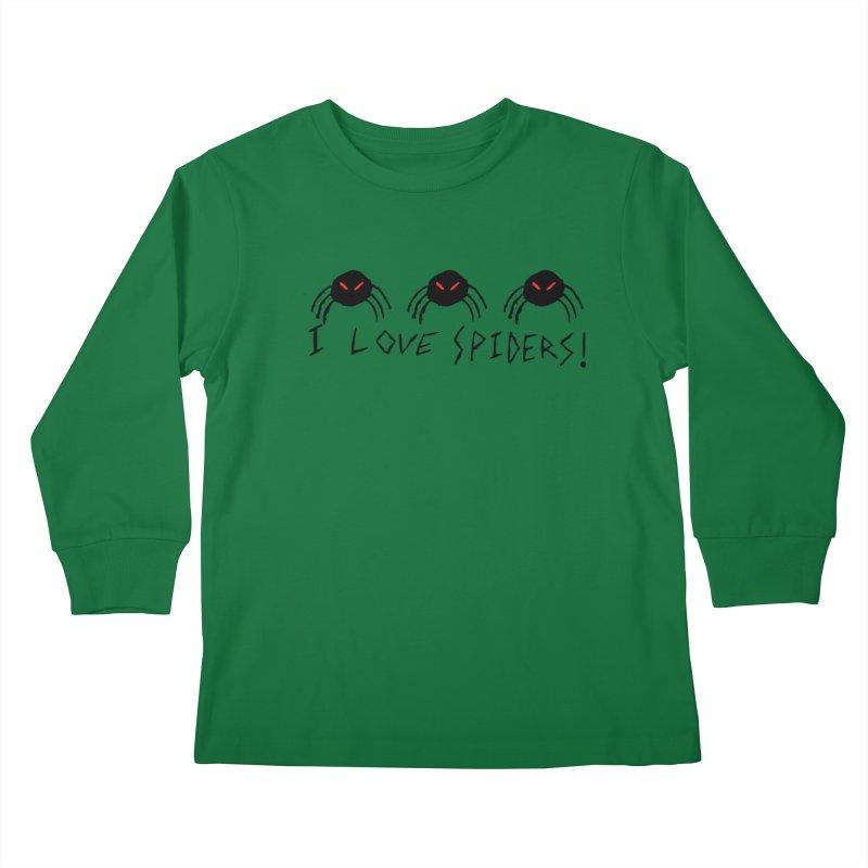 I love spiders! Kids Longsleeve T-Shirt by The Little Fears