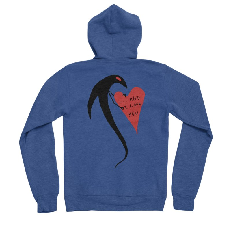 Lucy's Heart 2 - And I love you Men's Sponge Fleece Zip-Up Hoody by The Little Fears