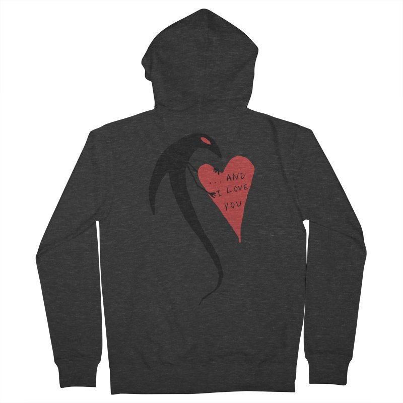 Lucy's Heart 2 - And I love you Men's French Terry Zip-Up Hoody by The Little Fears