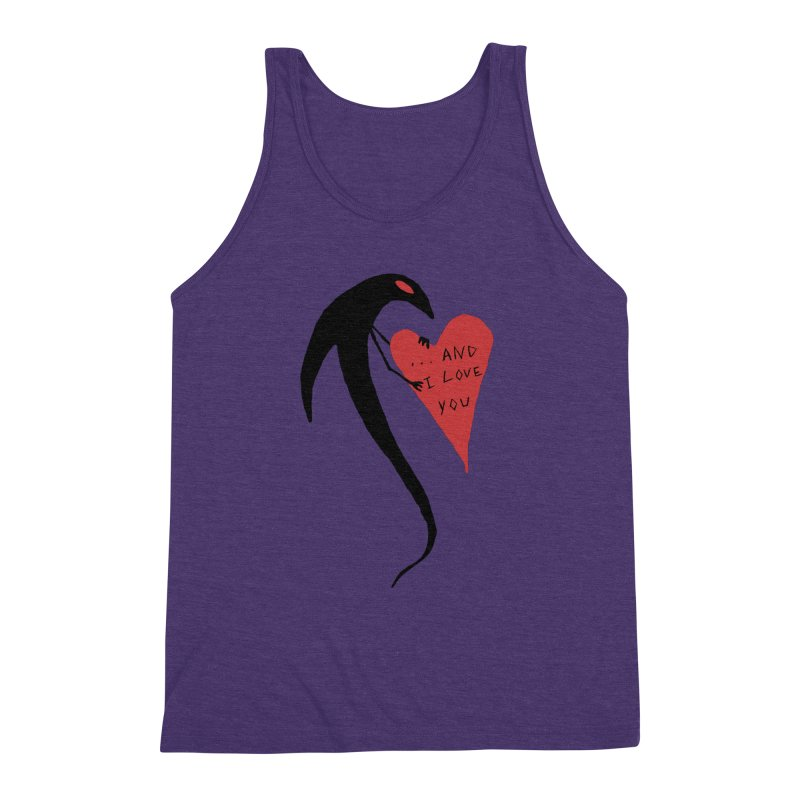 Lucy's Heart 2 - And I love you Men's Triblend Tank by The Little Fears