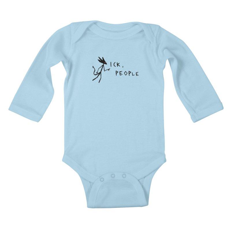 Ick people Kids Baby Longsleeve Bodysuit by The Little Fears