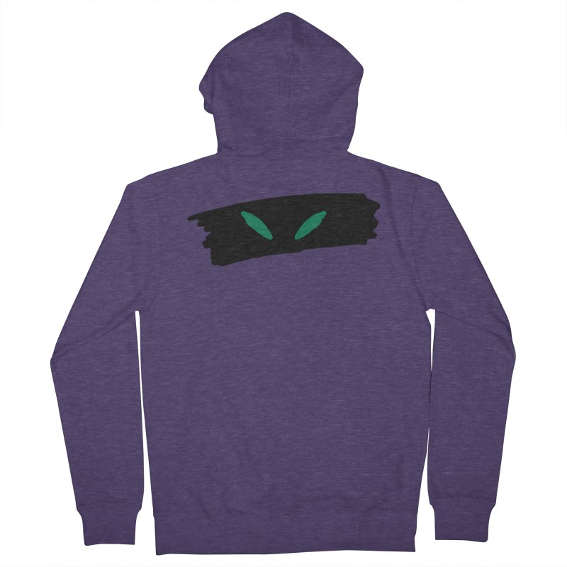 Cats Eyes Men's French Terry Zip-Up Hoody by The Little Fears