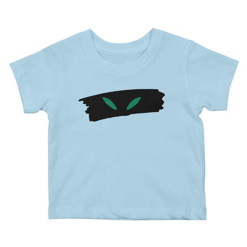 Cats Eyes Kids Baby T-Shirt by The Little Fears