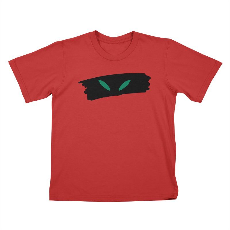 Cats Eyes Kids T-Shirt by The Little Fears