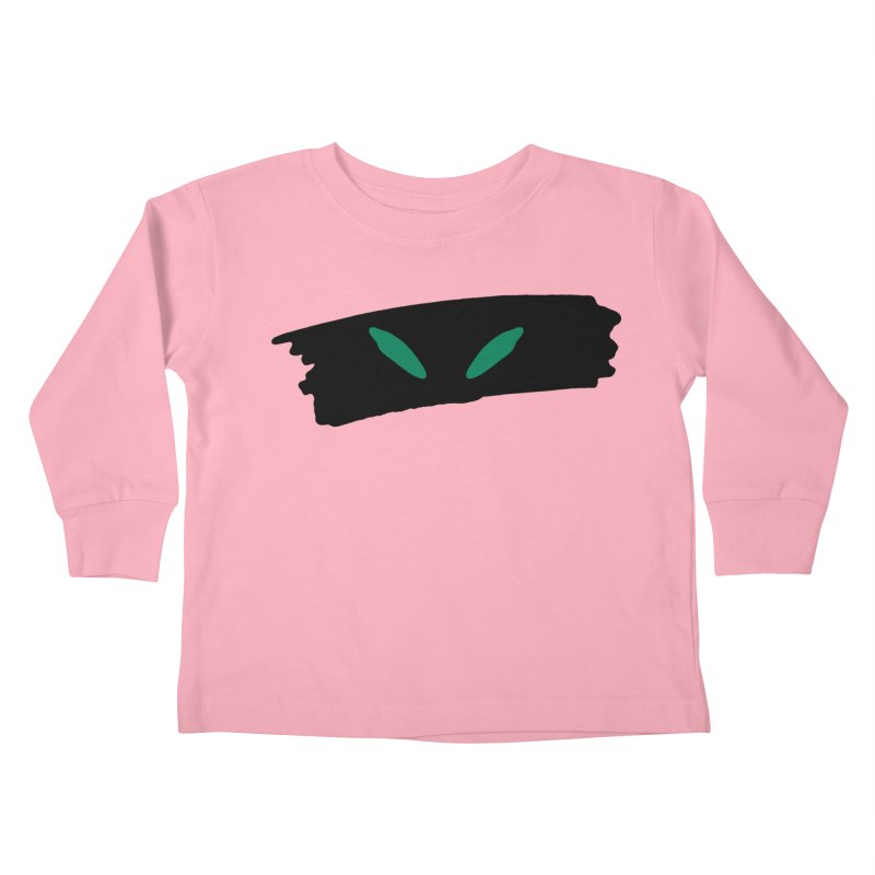 Cats Eyes Kids Toddler Longsleeve T-Shirt by The Little Fears
