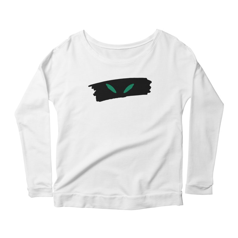 Cats Eyes Women's Scoop Neck Longsleeve T-Shirt by The Little Fears