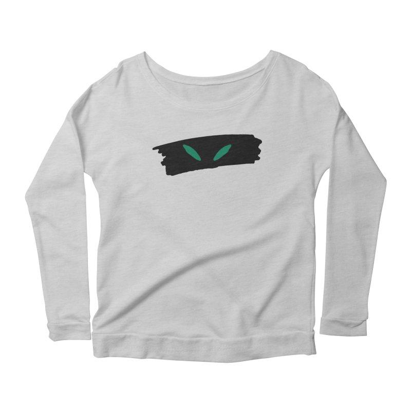 Cats Eyes Women's Scoop Neck Longsleeve T-Shirt by The Little Fears