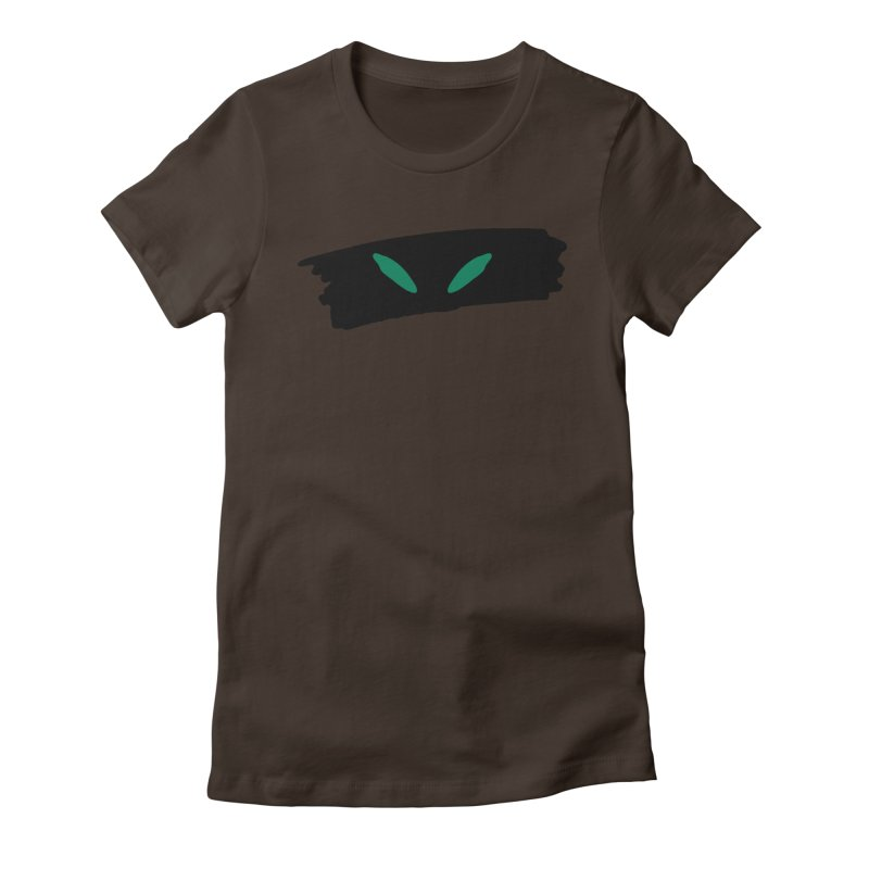 Cats Eyes Women's Fitted T-Shirt by The Little Fears