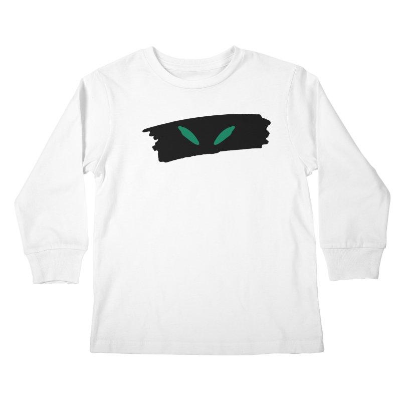 Cats Eyes Kids Longsleeve T-Shirt by The Little Fears