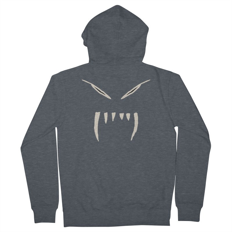 Growl Men's French Terry Zip-Up Hoody by The Little Fears