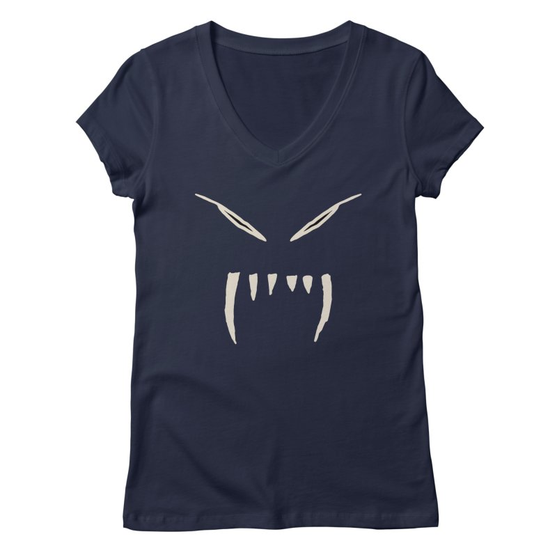 Growl Women's Regular V-Neck by The Little Fears