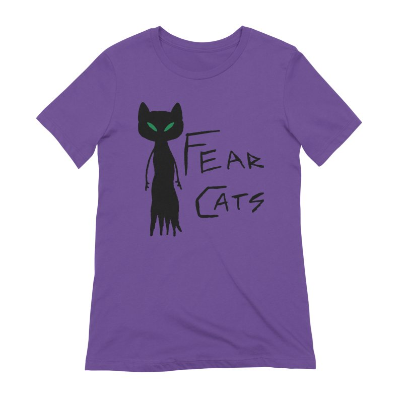 Fear Cats Women's Extra Soft T-Shirt by The Little Fears