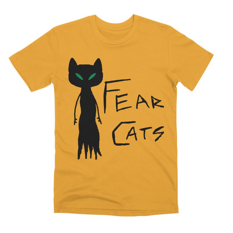 Fear Cats Men's Premium T-Shirt by The Little Fears