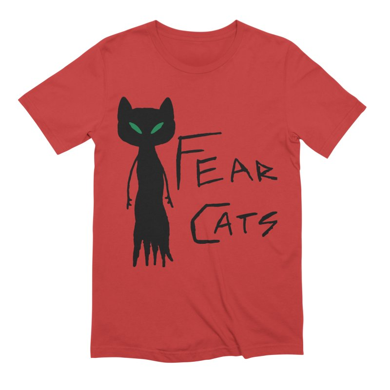 Fear Cats Men's Extra Soft T-Shirt by The Little Fears