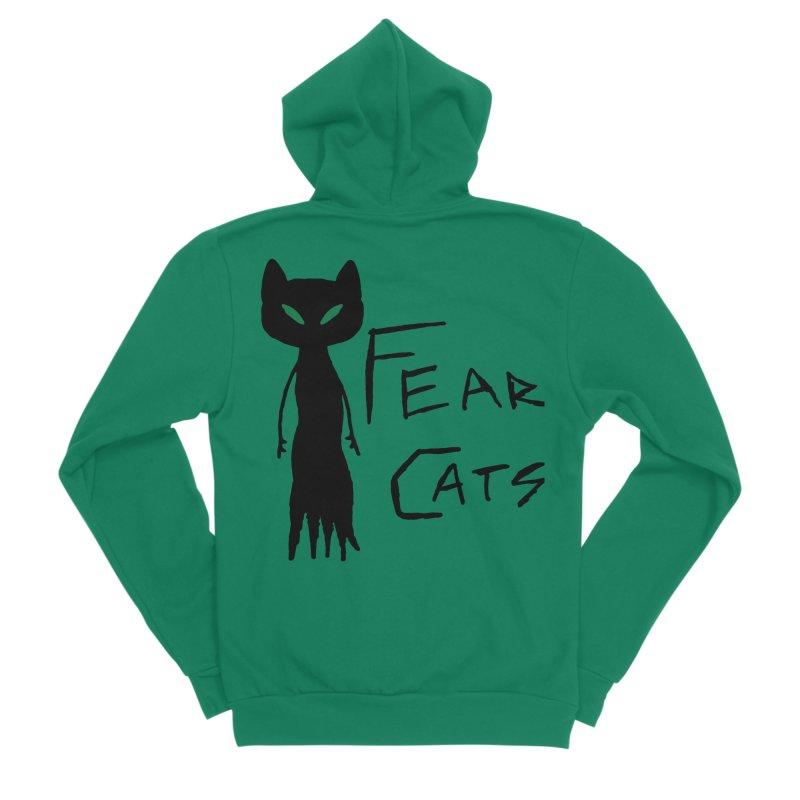Fear Cats Women's Sponge Fleece Zip-Up Hoody by The Little Fears
