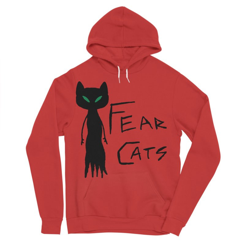 Fear Cats Men's Sponge Fleece Pullover Hoody by The Little Fears