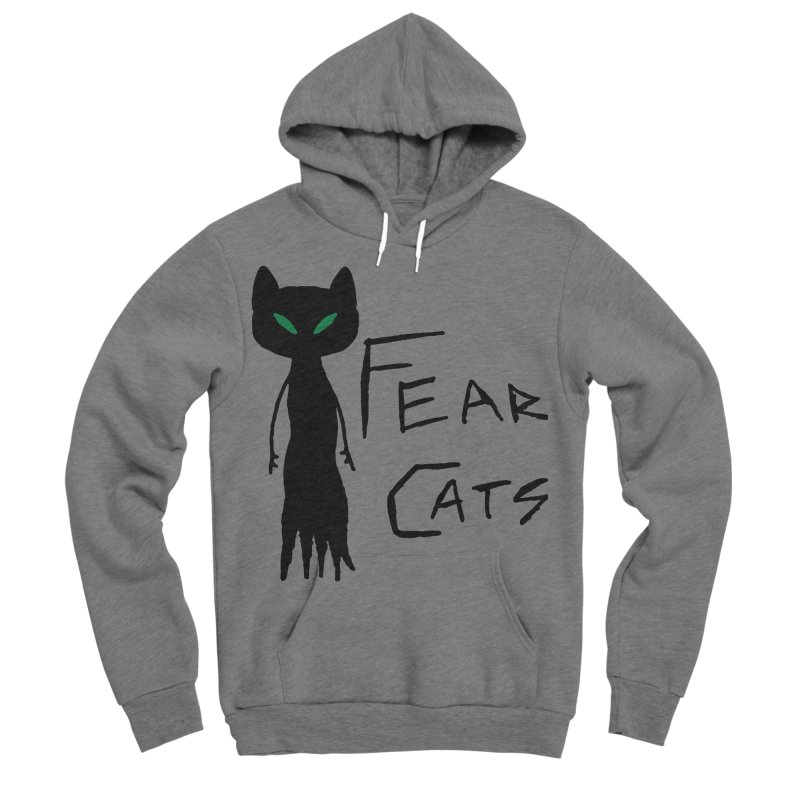 Fear Cats Men's Sponge Fleece Pullover Hoody by The Little Fears