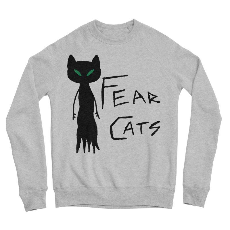 Fear Cats Men's Sponge Fleece Sweatshirt by The Little Fears