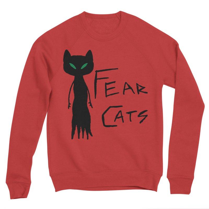 Fear Cats Women's Sponge Fleece Sweatshirt by The Little Fears