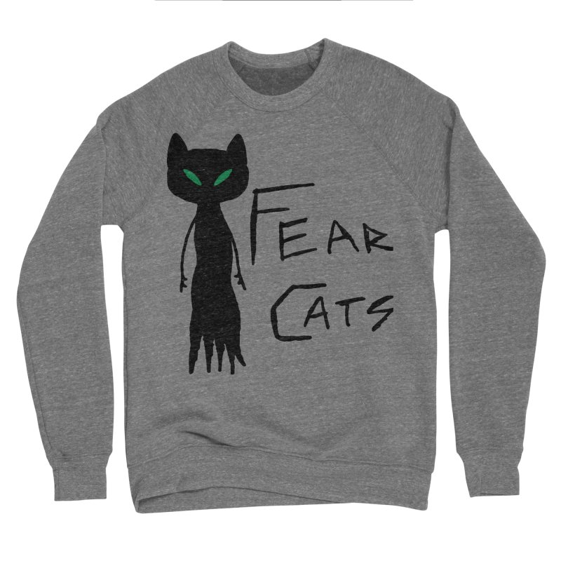 Fear Cats Women's Sponge Fleece Sweatshirt by The Little Fears
