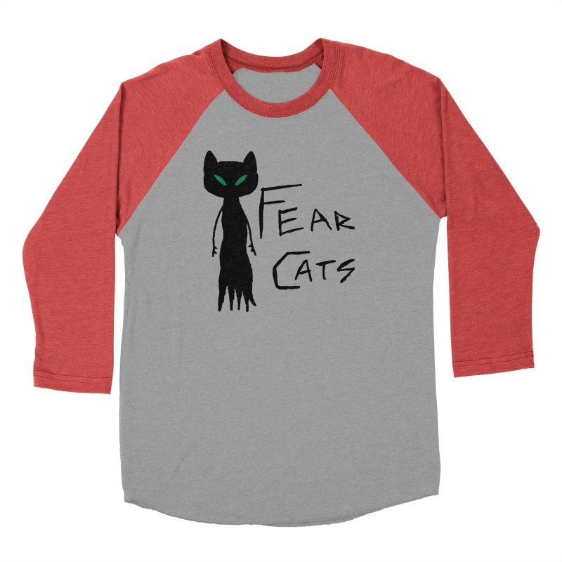 Fear Cats Women's Baseball Triblend Longsleeve T-Shirt by The Little Fears