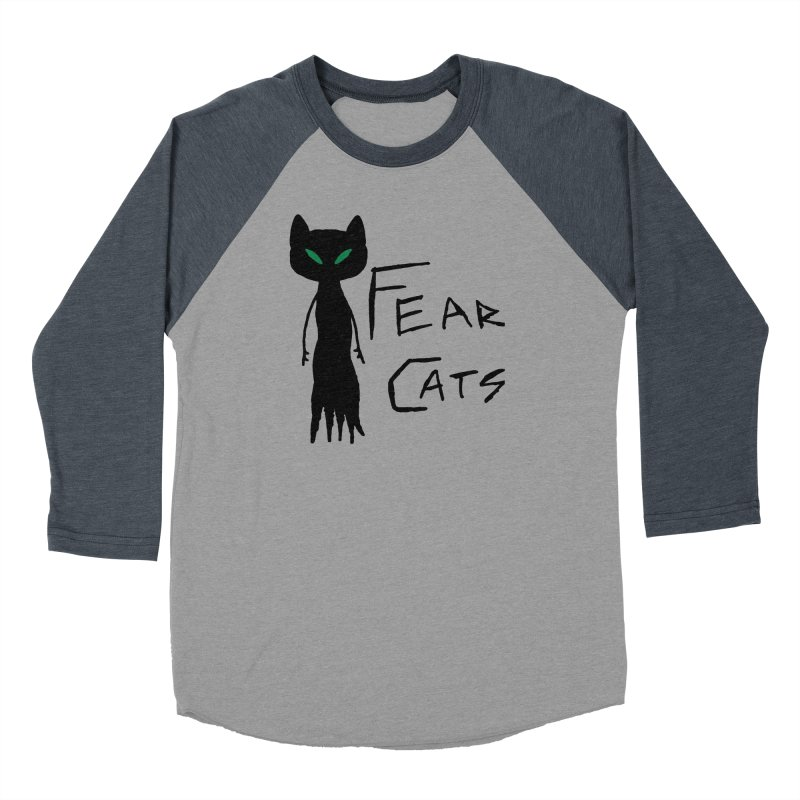 Fear Cats Men's Baseball Triblend Longsleeve T-Shirt by The Little Fears