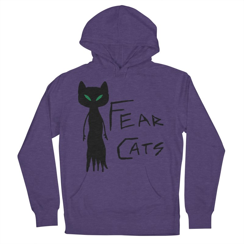 Fear Cats Women's French Terry Pullover Hoody by The Little Fears