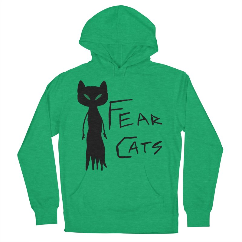 Fear Cats Men's French Terry Pullover Hoody by The Little Fears