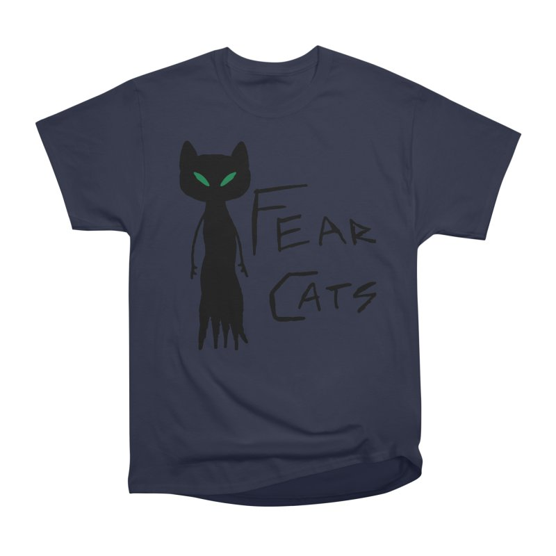 Fear Cats Men's Heavyweight T-Shirt by The Little Fears