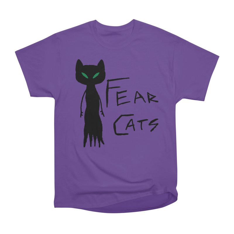 Fear Cats Women's Heavyweight Unisex T-Shirt by The Little Fears