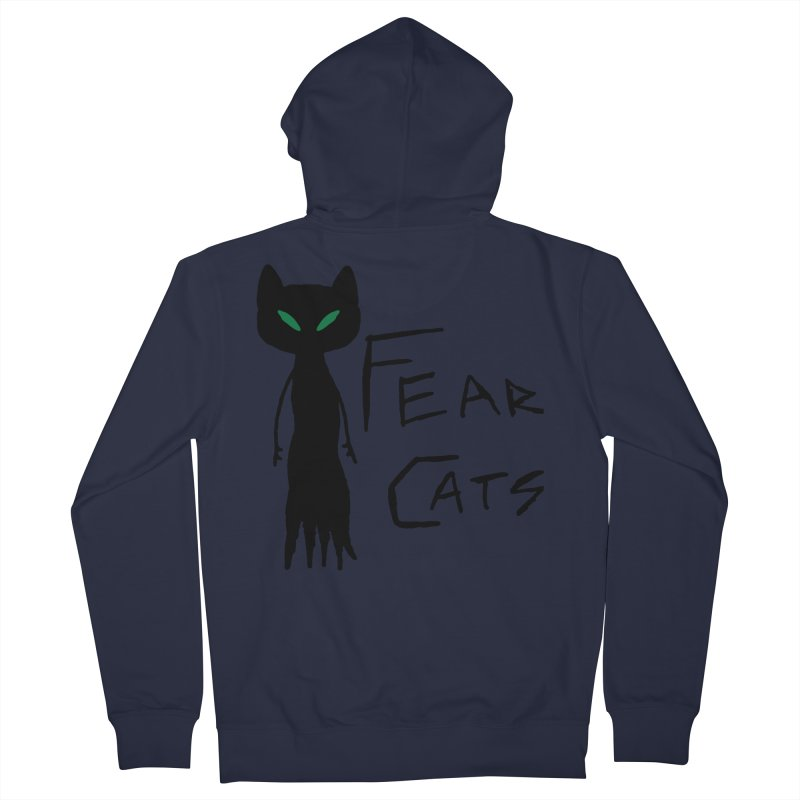 Fear Cats Women's French Terry Zip-Up Hoody by The Little Fears