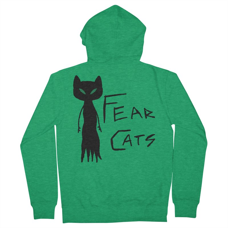 Fear Cats Men's Zip-Up Hoody by The Little Fears