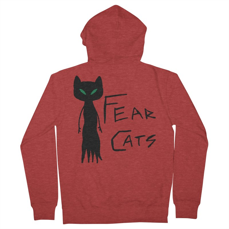 Fear Cats Men's French Terry Zip-Up Hoody by The Little Fears