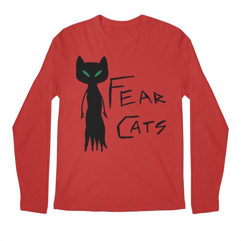 Fear Cats Men's Regular Longsleeve T-Shirt by The Little Fears