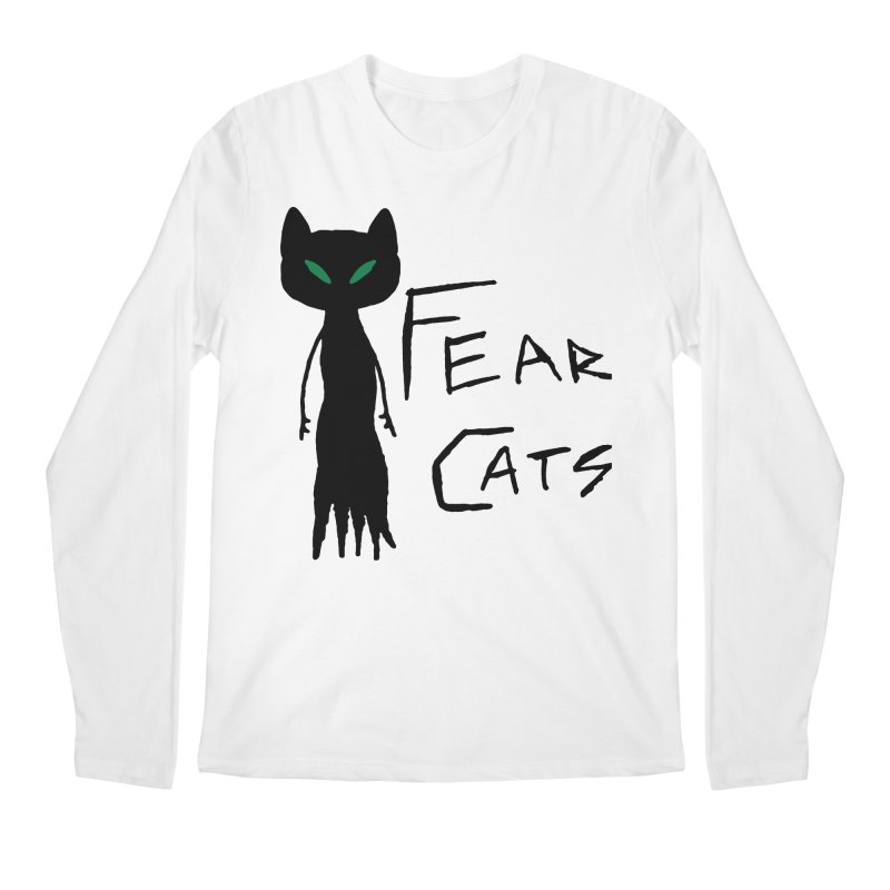 Fear Cats Men's Regular Longsleeve T-Shirt by The Little Fears