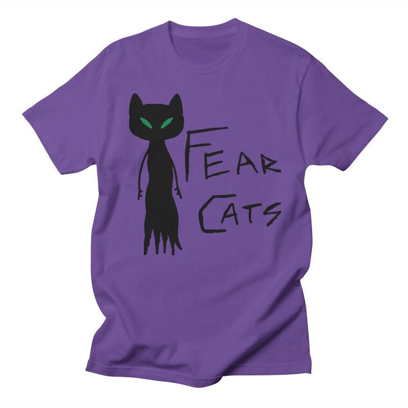 Fear Cats Men's Regular T-Shirt by The Little Fears