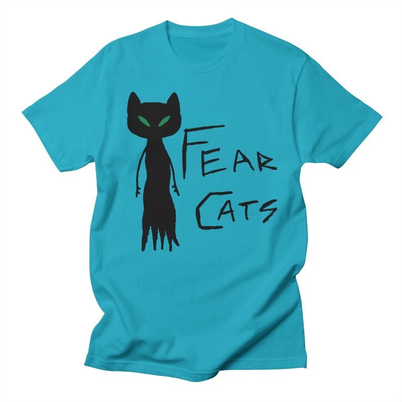 Fear Cats Women's Regular Unisex T-Shirt by The Little Fears